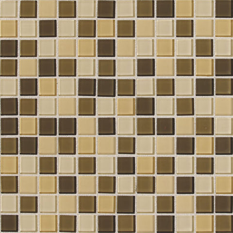 "Daltile ISIS 7/8"" x 7/8"" Cream Mesh Mounted Blend Mosaic"