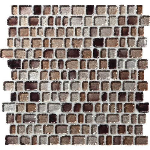 "Daltile Jewel Tide 12-5/16"" x 12-3/16"" Beach Pebble Random Mesh Mounted Mosaic"