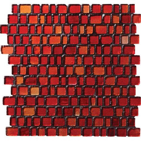 "Daltile Jewel Tide 12-5/16"" x 12-3/16"" Sunset Path Random Mesh Mounted Mosaic"