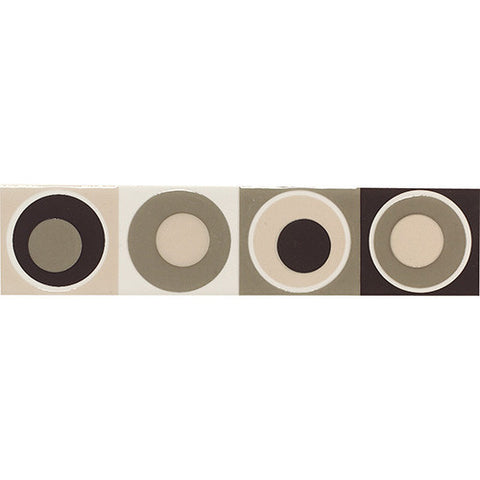 Daltile Modern Dimensions 2 x 8 Multi-Brown Concentric Circles - American Fast Floors