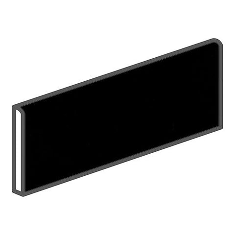 "Daltile Modern Dimensions 4-1/4 x 12-3/4 Gloss Black Surface Bullnose - 12"" Side"