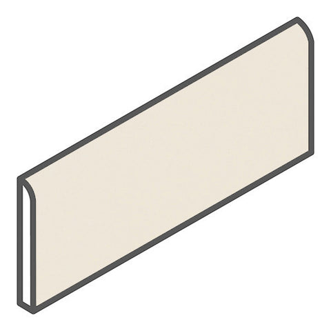 "Daltile Modern Dimensions 2-1/8 x 8-1/2 Gloss Biscuit Bullnose - 8-1/2"" Side - American Fast Floors"
