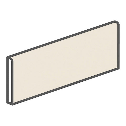 "Daltile Modern Dimensions 4-1/4 x 12-3/4 Gloss Biscuit Surface Bullnose - 12"" Side"