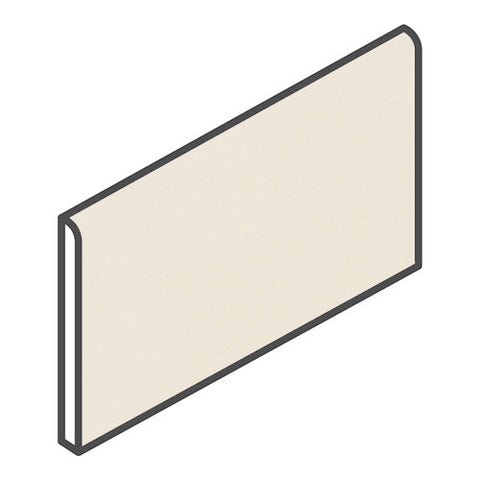 "Daltile Modern Dimensions 4-1/4 x 8-1/2 Gloss Biscuit Bullnose (8-1/2"" Side)"