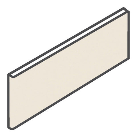 "Daltile Modern Dimensions 4-1/4 x 12-3/4 Gloss Biscuit Surface Bullnose - 4-1/4"" Side"