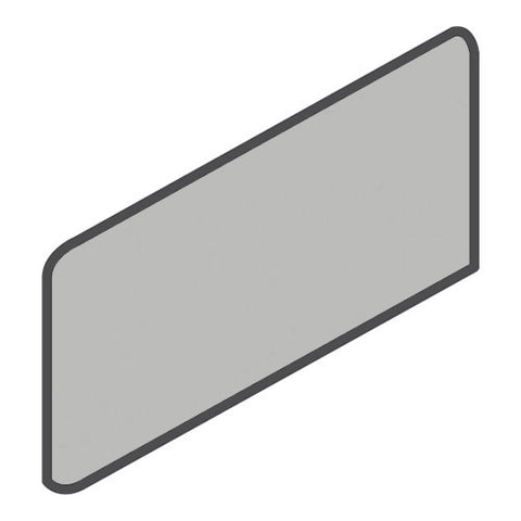 Daltile Modern Dimensions 4-1/4 x 8-1/2 Ice Grey Wall Bullnose Corner Left