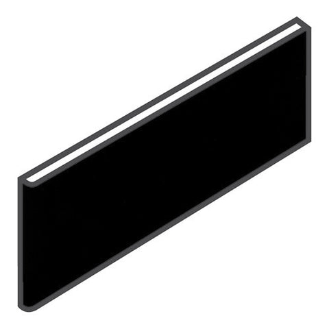 "Daltile Modern Dimensions 4-1/4 x 12-3/4 Matte Black Surface Bullnose - 4-1/4"" Side"