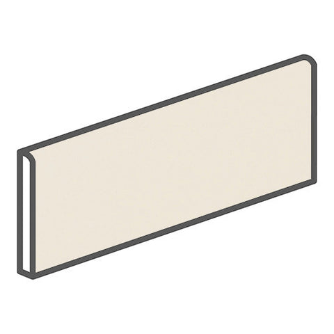 Daltile Modern Dimensions 4-1/4 x 12-3/4 Gloss Biscuit Bullnose Corner Right