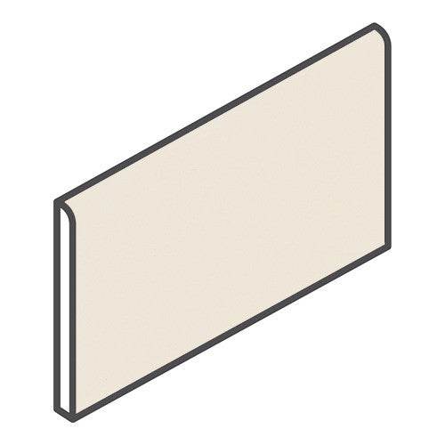 "Daltile Modern Dimensions 4-1/4 x 8-1/2 Matte Biscuit Wall Bullnose - 4-1/4"" Side - American Fast Floors"