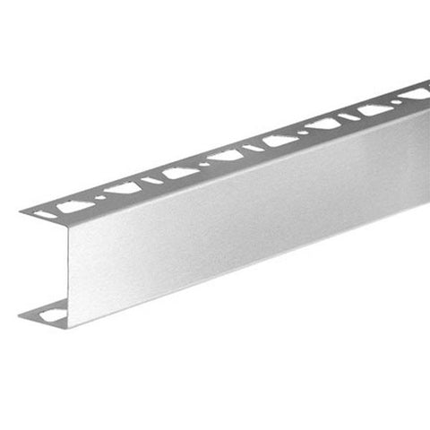 "KERDI-BOARD-ZA U-Shaped 1"" Profile with Two Perforated Edges"