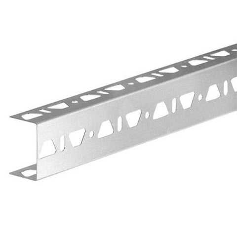 "KERDI-BOARD-ZB U-Shaped 3/4"" Profile with Three Perforated Edges"