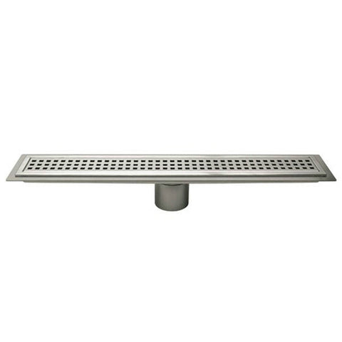 "KERDI-LINE 24"" Perforated Grate Assembly 3/4"" Frame Height"