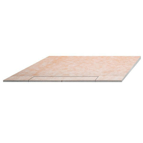 "KERDI-SHOWER-LS 55"" x 55"" Shower Tray Wall Drain Placement"