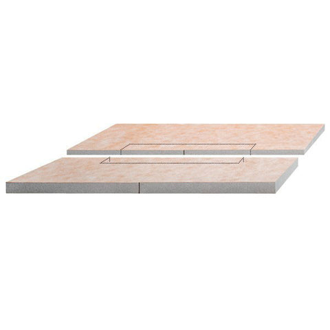 "KERDI-SHOWER-L 39"" x 39"" Shower Tray Center Drain Placement"