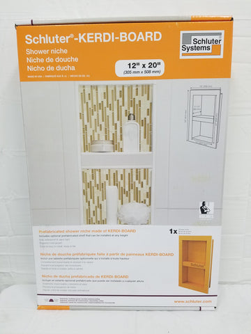 Schluter Kerdi Board Sn Prefabricated Shower Niche 12x20