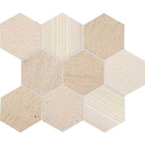 "American Olean Ascend Honest Greige 4"" Hexagon Mosaic"
