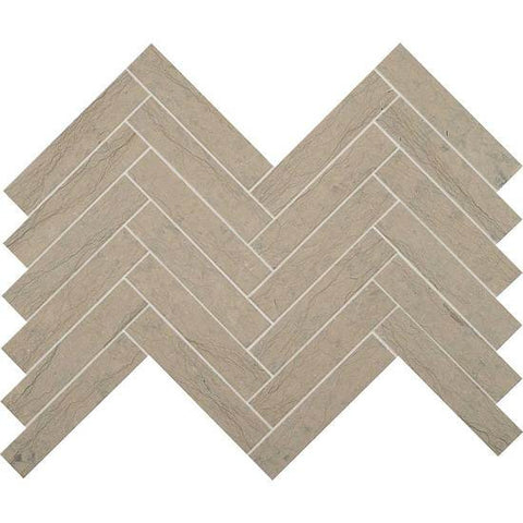 American Olean Ascend Gray Virtue 1 X 6 Chevron Mosaic