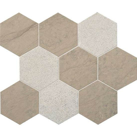 "American Olean Ascend Gray Virtue 4"" Hexagon Mosaic"
