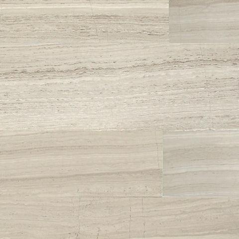 "Daltile Limestone 4"" x 12"" Chenille White Vein Cut Polished Field Tile"