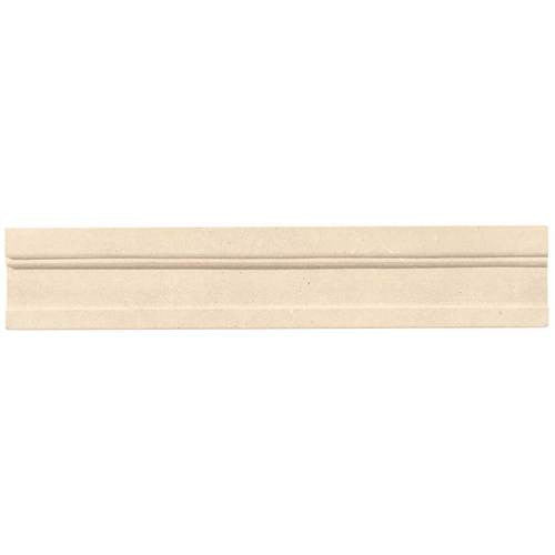 Daltile Limestone Adour CrÌ_Ìâme Modern Honed Chair Rail - American Fast Floors