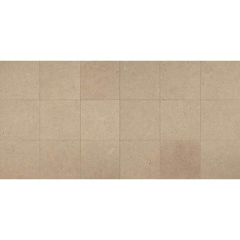 "Daltile Limestone 12"" x 24"" Corton Sable Lite Honed Field Tile"