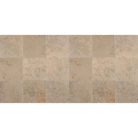 "Daltile Limestone 12"" x 24"" Jurastone Gray/Beige Blend Honed Field Tile"