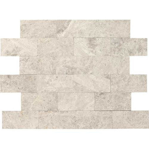 "Daltile Limestone Martinique 3"" x 6"" Arctic Gray Honed Field Tile"