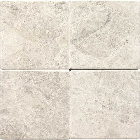 "Daltile Limestone Martinique 6"" x 6"" Arctic Gray Tumbled Field Tile"