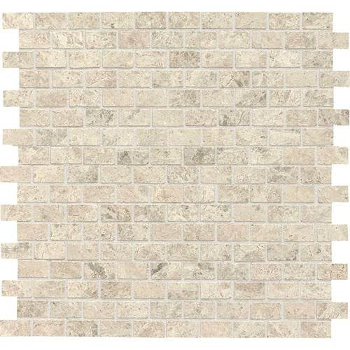 Daltile Limestone Martinique Arctic Gray Brick Joint Polished Mosaics - American Fast Floors