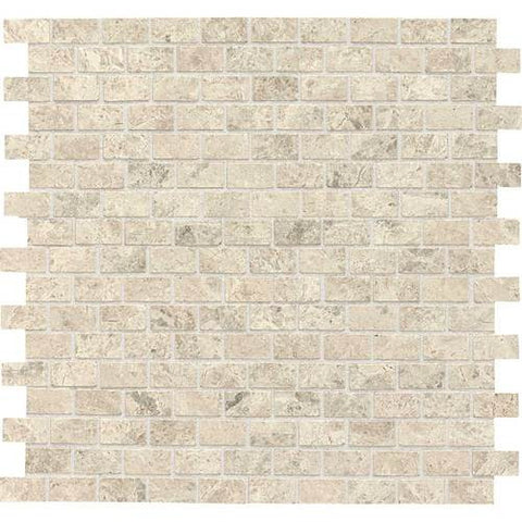 Daltile Limestone Martinique Arctic Gray Brick Joint Polished Mosaics