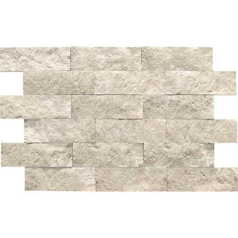 Daltile Limestone Martinique Arctic Gray Split Face Mosaics