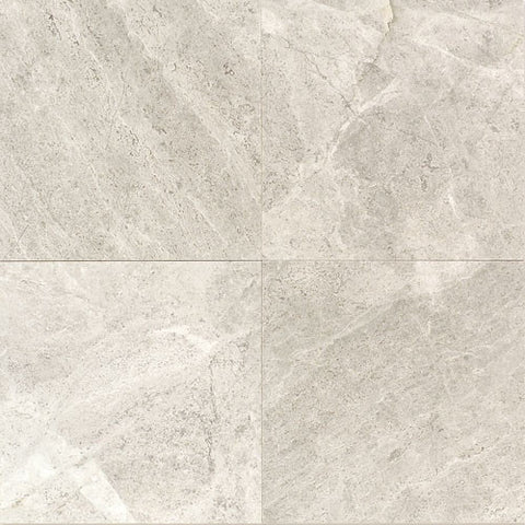 "Daltile Limestone 12"" x 12"" Arctic Gray Polished Field Tile"