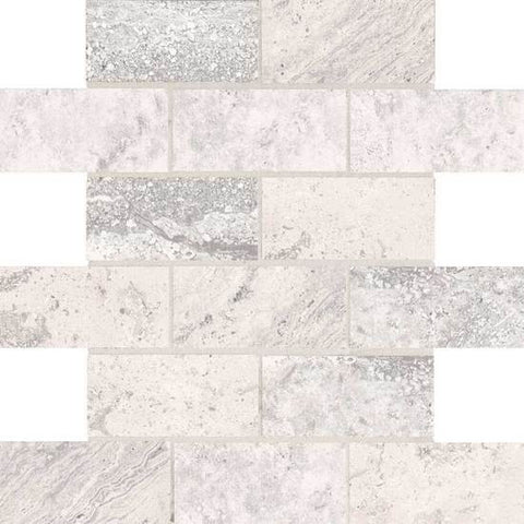American Olean Laurel Heights Gray Summit 2 x 4 Brick-Joint Mosaic