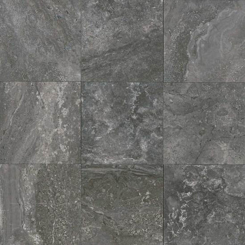 American Olean Laurel Heights 12 x 12 Charcoal Crest Floor Tile