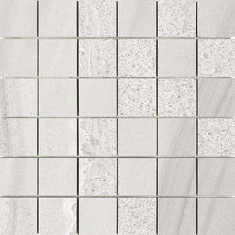 "Legend 12""X12"" Blanco Glazed Mosaic - American Fast Floors"