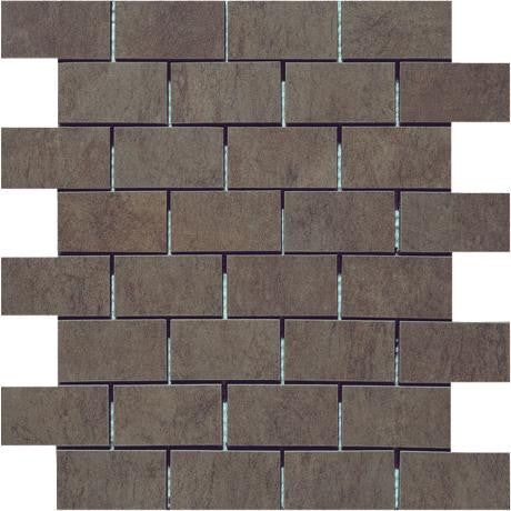 "Marazzi Stone Collection 12""x12"" Green Mesh Mounted Brick Mosaic"