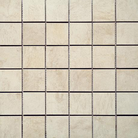"Marazzi Stone Collection 12""x12"" Ivory Mesh Mounted Square Mosaic"