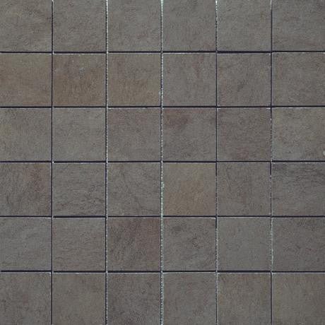 "Marazzi Stone Collection 12""x12"" Anthracite Mesh Mounted Square Mosaic"