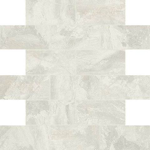 Daltile Marble Falls White Water 2 x 4 Brick-joint Mosaic