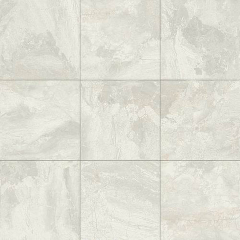 Daltile Marble Falls 18 x 18 White Water Floor Tile