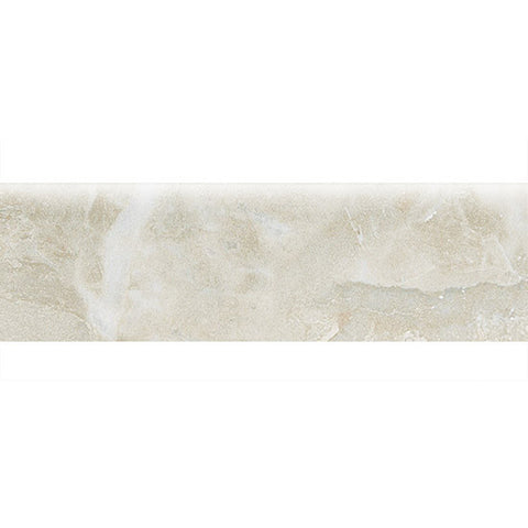 "American Olean Mirasol 3 x 10 Silver Marble Wall Bullnose - 10"" Side"