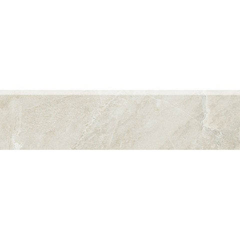 "American Olean Mirasol 3 x 12 Silver Marble Wall Bullnose - 12"" Side"