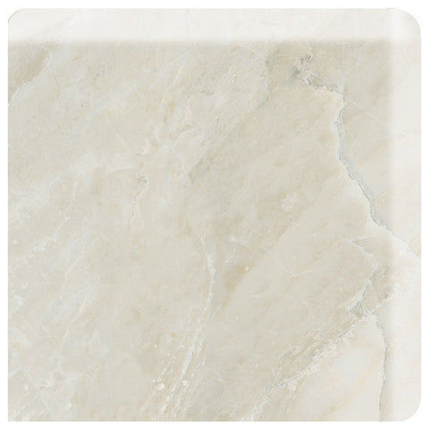 American Olean Mirasol 3 x 3 Silver Marble Wall Bullnose Outcorner - American Fast Floors