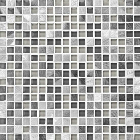 American Olean Morello Obsidian 5/8 x 5/8 Mesh-Mounted Mosaic