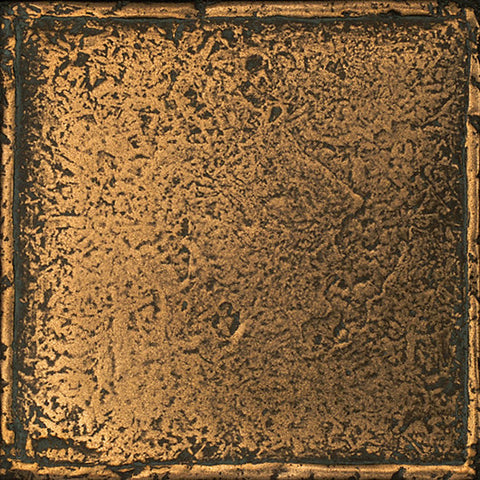 Daltile Metal Signatures 4-1/4 x 4-1/4 Aged Bronze Chateau Field Tile