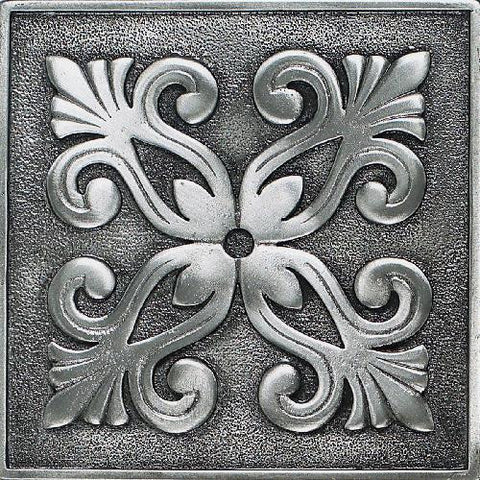 Daltile Massalia 4 x 4 Pewter Frieze Accent - American Fast Floors