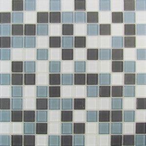 "Roca Self Adhesive 12""X12"" Gray Mix Mosaic - American Fast Floors"