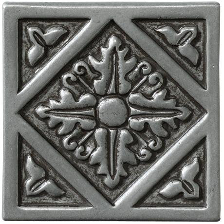 "Marazzi Romance Collection 4""x4"" Nickel Diamond Insert"