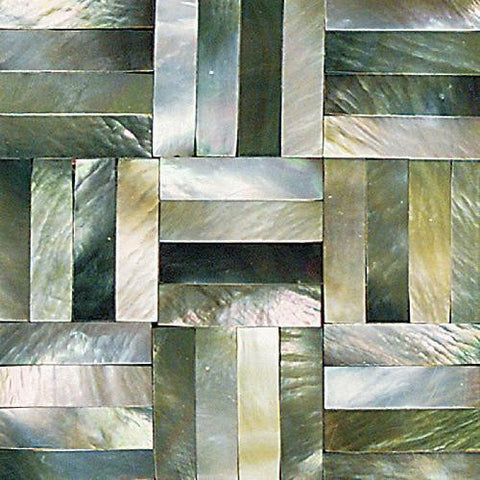 Daltile Ocean Jewels 2 x 2 Black Lip Basketweave Flat Accent - American Fast Floors