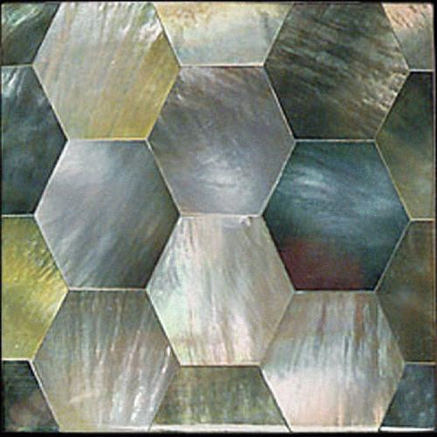 Daltile Ocean Jewels 2 x 2 Black Lip Hexagon Flat Accent